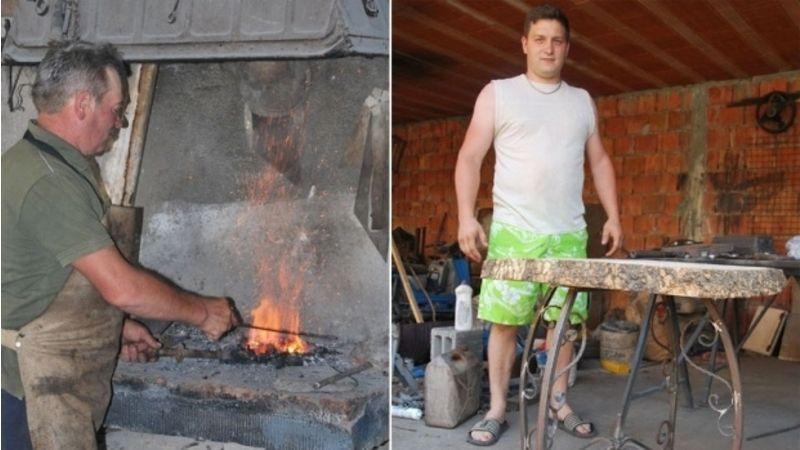 Kovačima je vatra u krvi, Dragan i Marko Radivojević, foto: Novosti