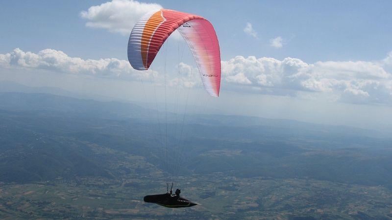 Prelet paraglajderom, foto: Vazduhoplovni savez Srbije