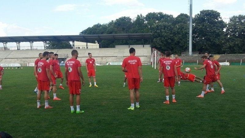 Fudbaleri Borca na treningu, foto: PressLider