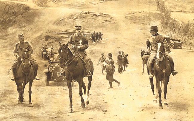 Živojin Mišić, Franše d'Epere i princ Aleksandar u obilasku fronta