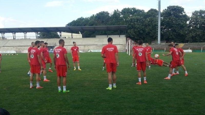 Fudbaleri Borca na treningu, foto: M. Trmčić