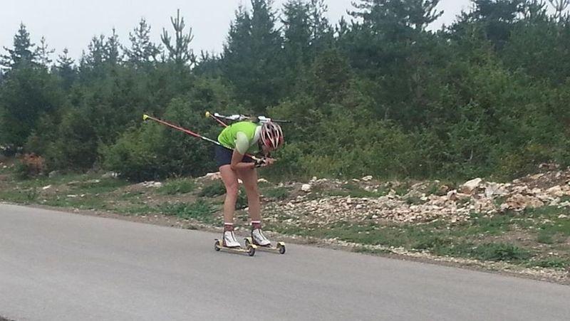 Biatlonac na stazi Žari, foto: PressLider