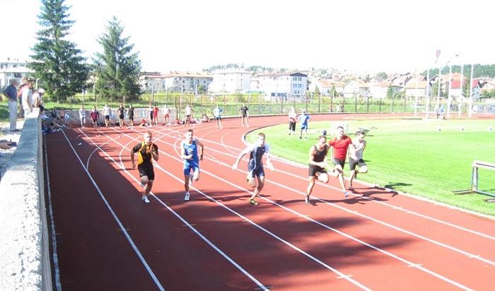 """Simić u trci na 100 m, foto: AK """"ČAAK"""""""