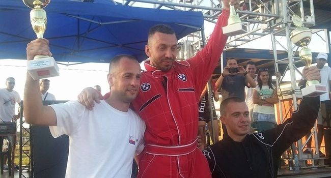 Igor Stevanović, Alčeksandar Bajić, Miloš Đorđević na pobedničkom postolju u Mladenovcu, foto: PressLider