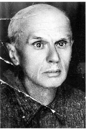 Portret Dragutina Gavrilovića posle izlaska iz koncentracionog logora.