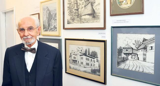 Užičanin Dragan Slović, samouki majstor crteža, radeći u muzeju od 1955. do 1989, nacrtao na desetine hiljada eksponata (Foto S. Jovičić)