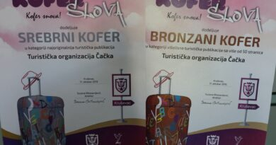 """Nagrađene publikacije TO Čačka na festivalu """"Kofer slova"""" u Kruševcu"""